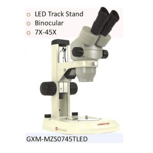 GXM-MZSTLED 7-45x Trinocular Stereo Zoom Microscope