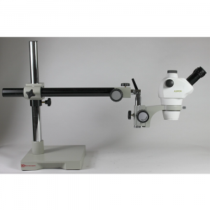Aspen GTS6 8-50x Trinocular Stereo Zoom Microscope with Boom Arm Stand