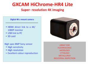 GXCAM HICHROME-HR4 LITE C-Mount Camera
